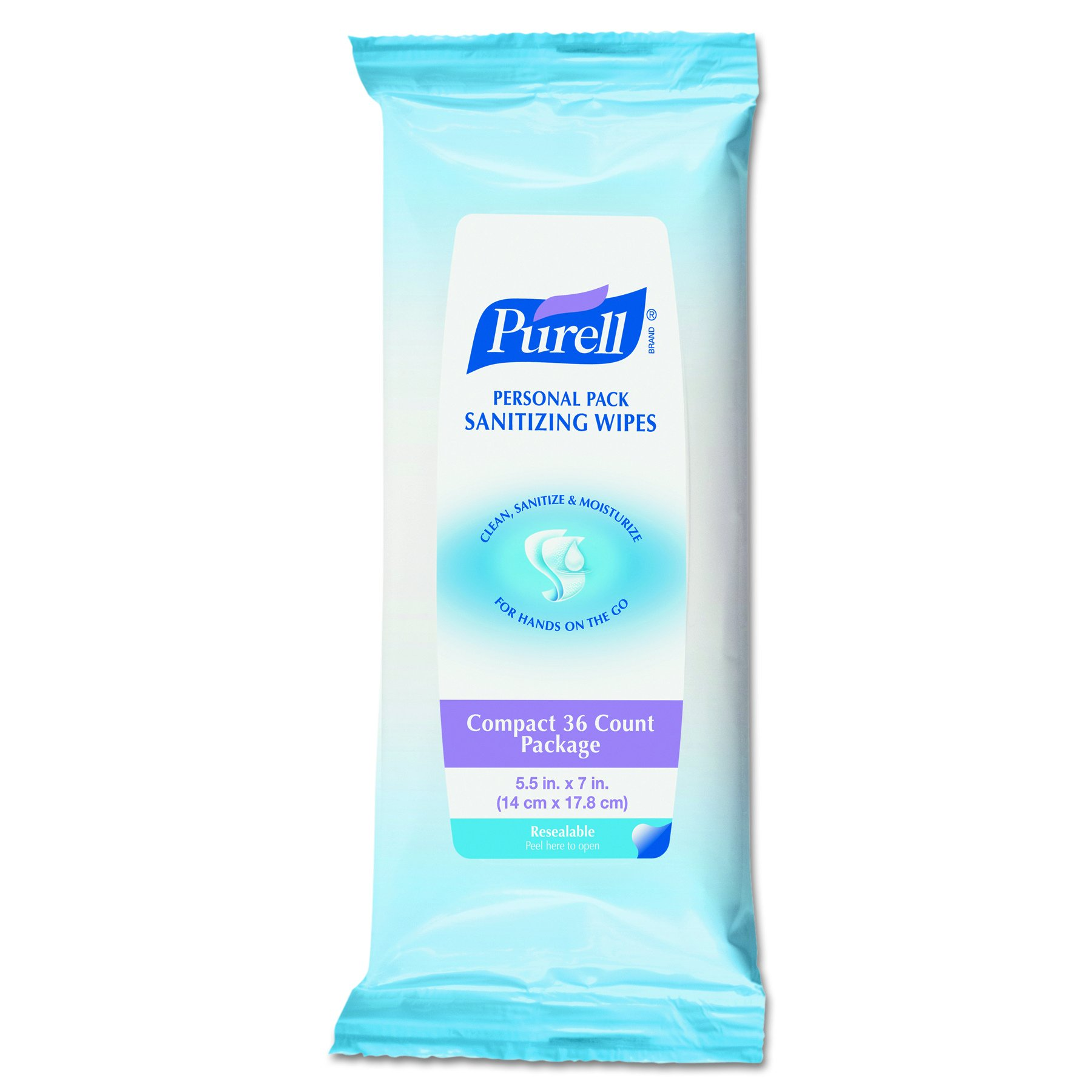 Purell 9032-12-CMR Personal Pack Wipes, 36 Count (Pack of 12)