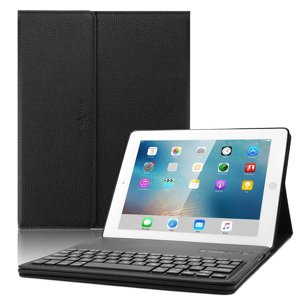 d70388d5157 iPad 2 3 4 Keyboard case, Boriyuan Leather Smart Case Stand Folio Cover  with Detachable Wireless Bluetooth Keyboard for Apple iPad 2/ ipad 3/ ipad  4 (9.7 ...