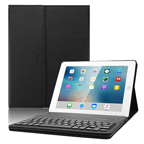 8b85e85250 iPad 2 3 4 Keyboard case, Boriyuan Leather Smart Case Stand Folio Cover  with Detachable