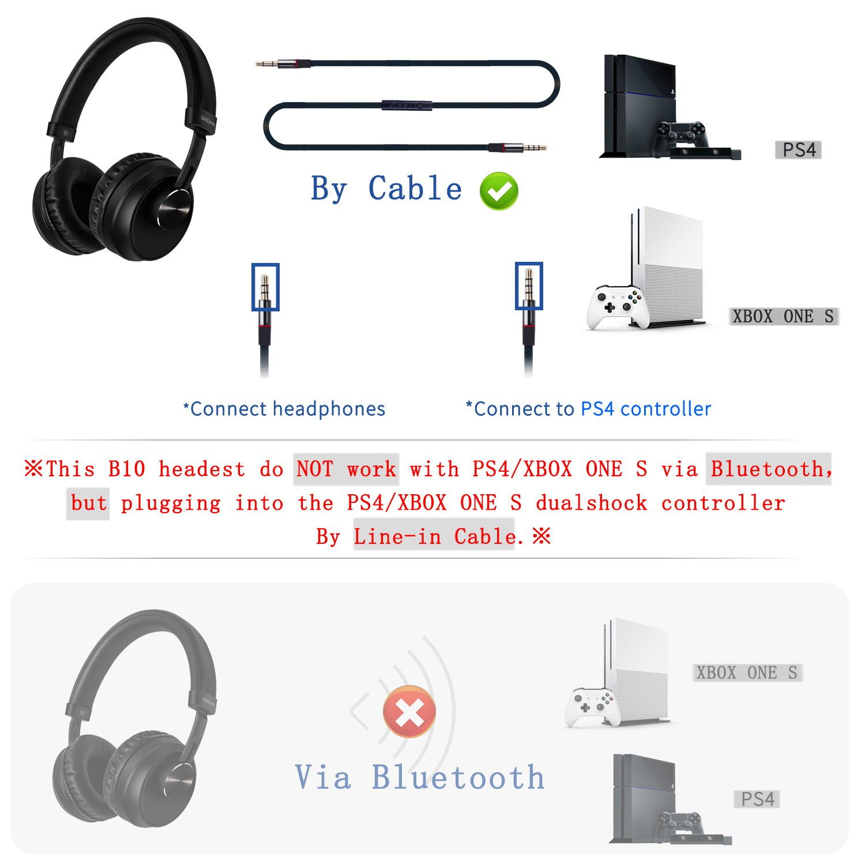 Onikuma B10 casque sans fil casque st/ér/éo avec prise audio 3,5 mm pour ordinateur portable PS4 XBOX ONE S Casque Bluetooth 4,2 avec micro pour ordinateur portable Smartphones de Mactrem