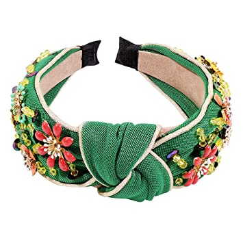 Fshion Women/'s Crystal Embellished Headband Knotted Hair Band Hair Accessories