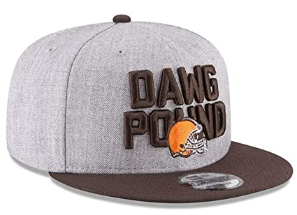 Image Unavailable. Image not available for. Color  New Era Cleveland Browns  Dawg Pound NFL Authentic Heather Gray Adjustable Snapback Hat ... b3627dd77