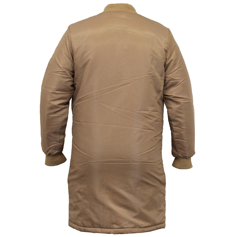 Mens Long MA1 Jacket Soul Star Harrington Mac Trench Coat Camo Military Padded Winter