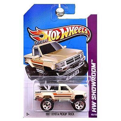 2013 Hot Wheels Hw Showroom - 1987 Toyota Pickup Truck - Tan: Toys & Games