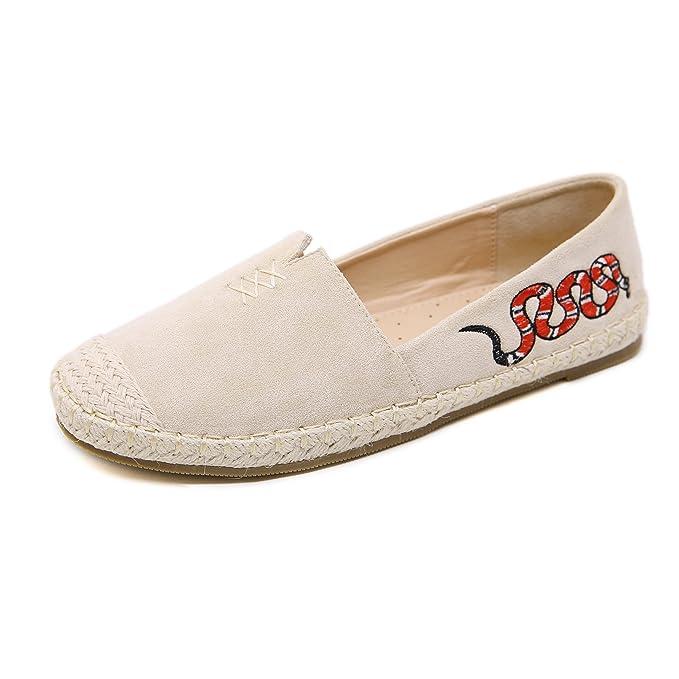 Morbuy Alpargatas para Mujer, Zapatos Planos Ocasionales Loafer ...
