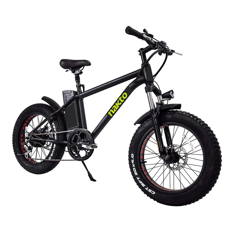 Nakto Bicicleta eléctrica de montaña de neumáticos de 20 ...