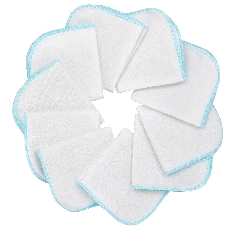 Mias Molleton flanelle gant de toilette, blancs, coton, non-toxiques/lingettes pour bébés/mouchoirs / serviettes tout usage Auerbach&Söhne