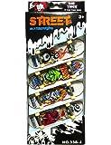 PeiGee Mini Finger Skateboard Set Toy 4 Skateboards in 1 Box Children's Novelty Gift