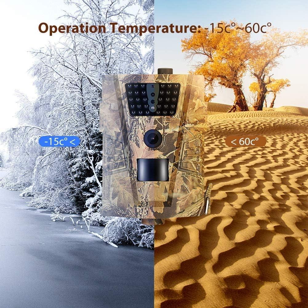 Appareil photo de la faune 12MP 1080P Plein infrarouge LED Trail Camera 90 /° grand angle infrarouge /étanche D/étecteur de mouvement Cam/éra Trail Trap photo pour s/écurit/é ext/érieure et /à la maison