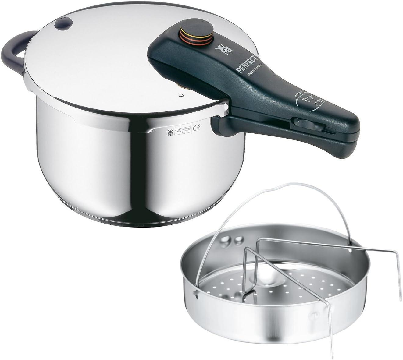 WMF Perfect - Olla rápida, Ø22cm, 4,5 litros (manual en castellano, tabla de cocción y servicios técnicos): Amazon.es: Hogar