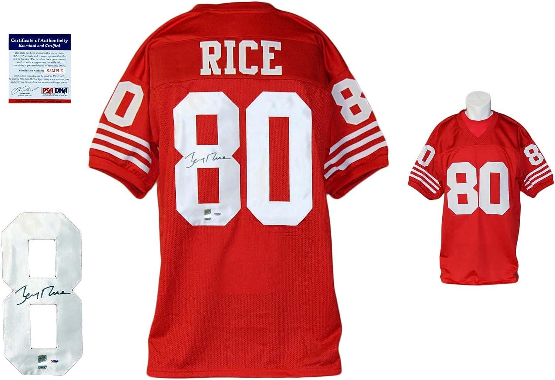 Jerry Rice Signed Custom Jersey - PSA/DNA - Autographed - Pro ...