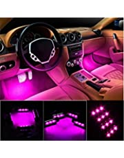 Car Lights Strict Car Ambient Light One For Four 18led Car Atmosphere Lights App Atmosphere Lights Car Led Colorful Foot Lights Car Accessories