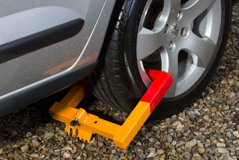Wheel Clamp Lock Caravan Trailers SUV Car Heavy Duty High Security Anti Theft