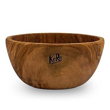 Salatschüssel Holz koro holzschale aus olivenholz durchmesser 18 cm höhe 7 cm