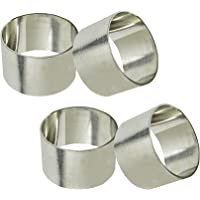 SKAVIJ Metal Napkin Rings Set for Dining Table Decoration (Dia-1.5 Inch)