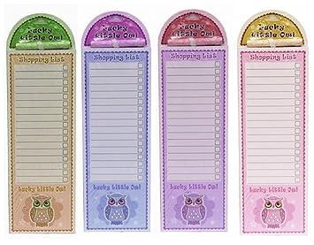 Kühlschrank Einkaufsliste Magnet : Lucky eule magnetisch einfaches abreißen shopping liste pad mit