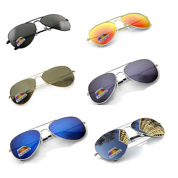 4sold Joven Polarized Gafas de sol aviador Kids en muchos combinaciones clásica Pilot Gafas unisex gafas de sol multicolor Silver Frame Silver Polarized ...
