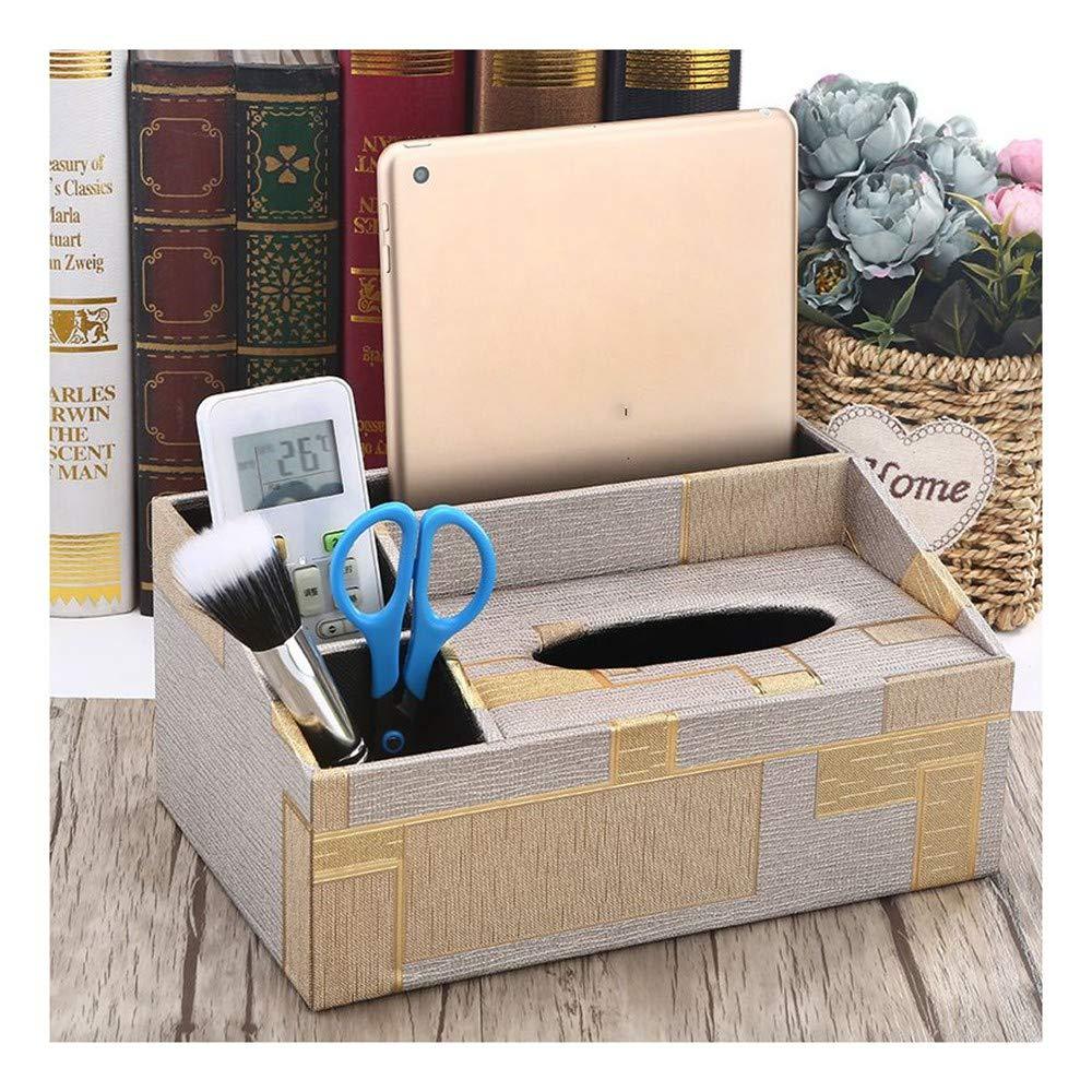 Cuir tissus Rectangle serviette Boîte Organisateur pour Salle de bain cuisine et bureau