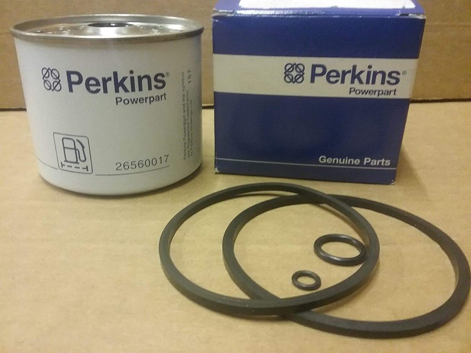 26560017 Genuine Perkins Engine Fuel Filter Kit Element Filters Replacement 26561117 P556245 Bf825 Ff167 Automotive