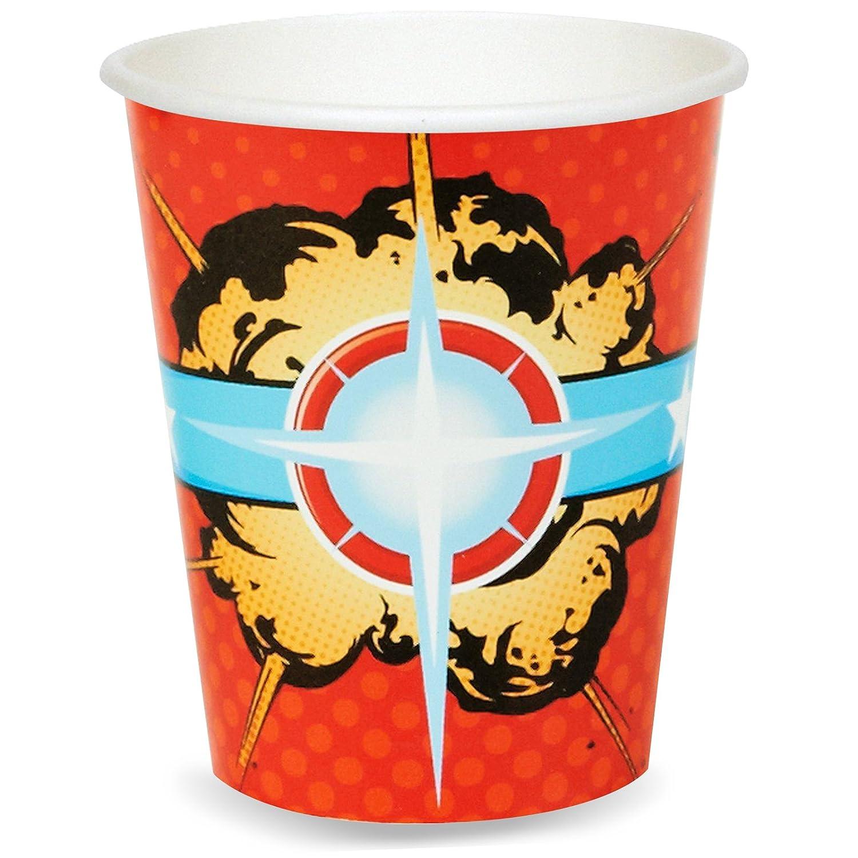 9 oz 8 BirthdayExpress Superhero Comics Party Supplies Paper Cups Party Destination SG/_B00CAY54AA/_US