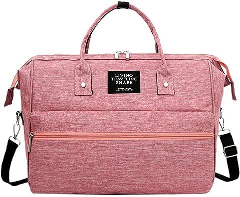 〓COOlCCI〓Canvas Oxford Messenger Bag,Diaper Bag Backpack, Mummy Bag Multi-Function Waterproof Messenger Shoulder Bags