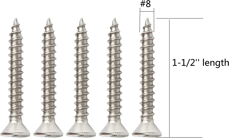 Supaper #4 X 1 Stainless Steel Flat Head Phillips Wood Screws 100-Piece