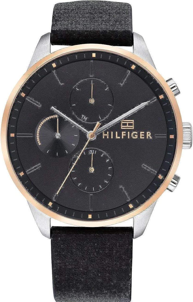 Tommy Hilfiger Reloj de Cuarzo para Hombre con Esfera múltiple Chase