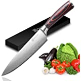 Chef Knife - PAUDIN Pro Kitchen Knife 8 Inch Chef's Knife N1 German High Carbon Stainless Steel Knife with Ergonomic…