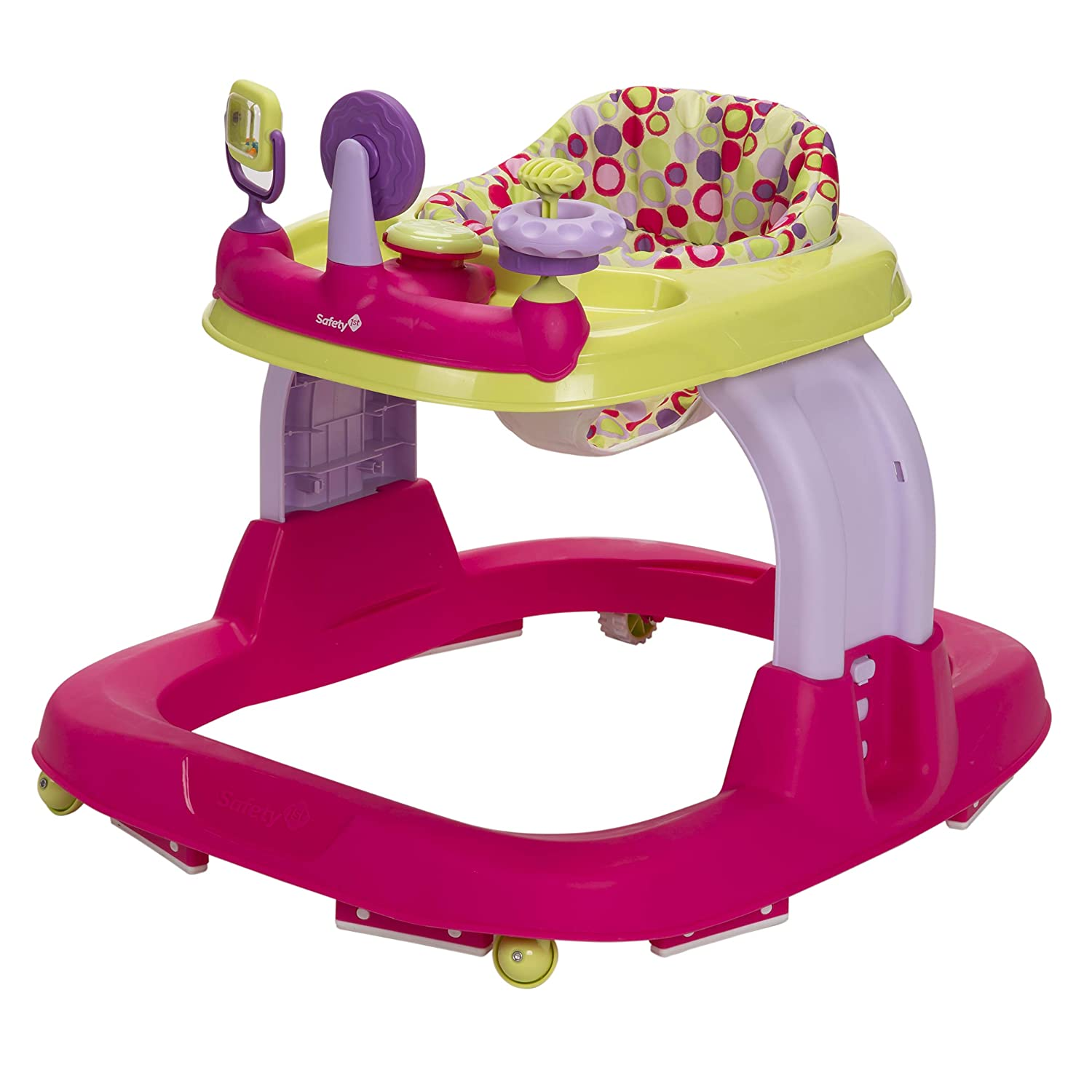 Baby Walker Minnie Dotty Padded Seat Adjustable Ready Set Music And Lights