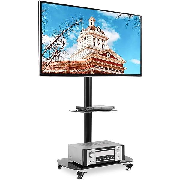 RFIVER Soporte TV con Ruedas de Suelo para Television de 37 a 70 Pulgadas con Giratorio y Altura Ajustable TF5002: Amazon.es: Electrónica