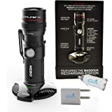 Nebo Redline RC 6392 Dock Rechargeable 320 Lumen LED Flashlight Bundle with Lumintrail USB Car & Wall Plugs