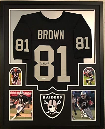 new product 71225 0806f FRAMED TIM BROWN AUTOGRAPHED SIGNED OAKLAND RAIDERS JERSEY ...