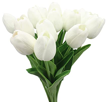 Amazon Duovlo 18 Heads Artificial Mini Tulips Real Touch