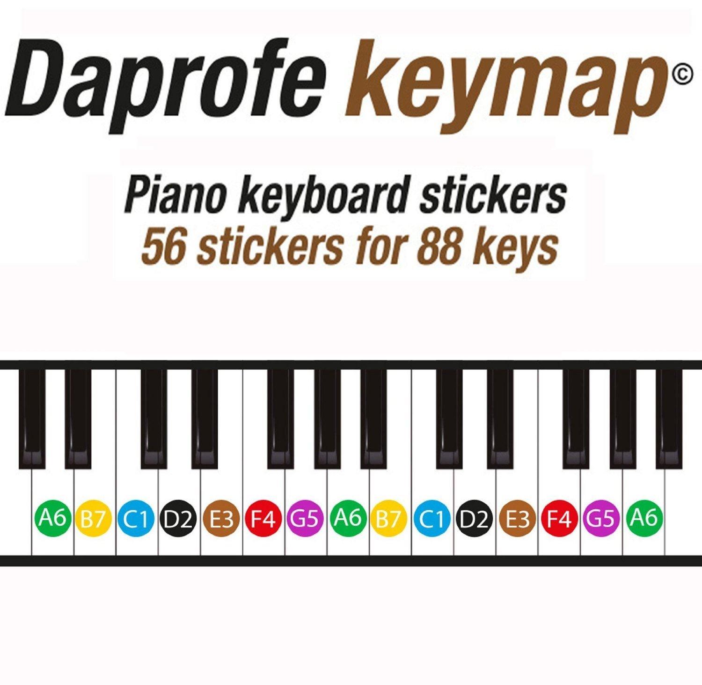Daprofe note map 88 key pianokeyboard note position scale guide daprofe note map 88 key pianokeyboard note position scale guide map stickers amazon musical instruments hexwebz Choice Image