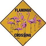 "Flamingo Crossing 12"" X 12"" Aluminum Sign"