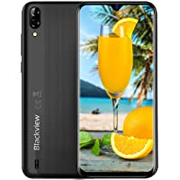 Mobile Phone, Blackview A60 (2019) UK SIM-Free Smartphones Unlocked with 6.1'' Waterdrop screen, Phone Android 8.1 Oreo 1GB RAM+16GB ROM, 4080mAh, 5+13MP Dual Rear Camera - Black