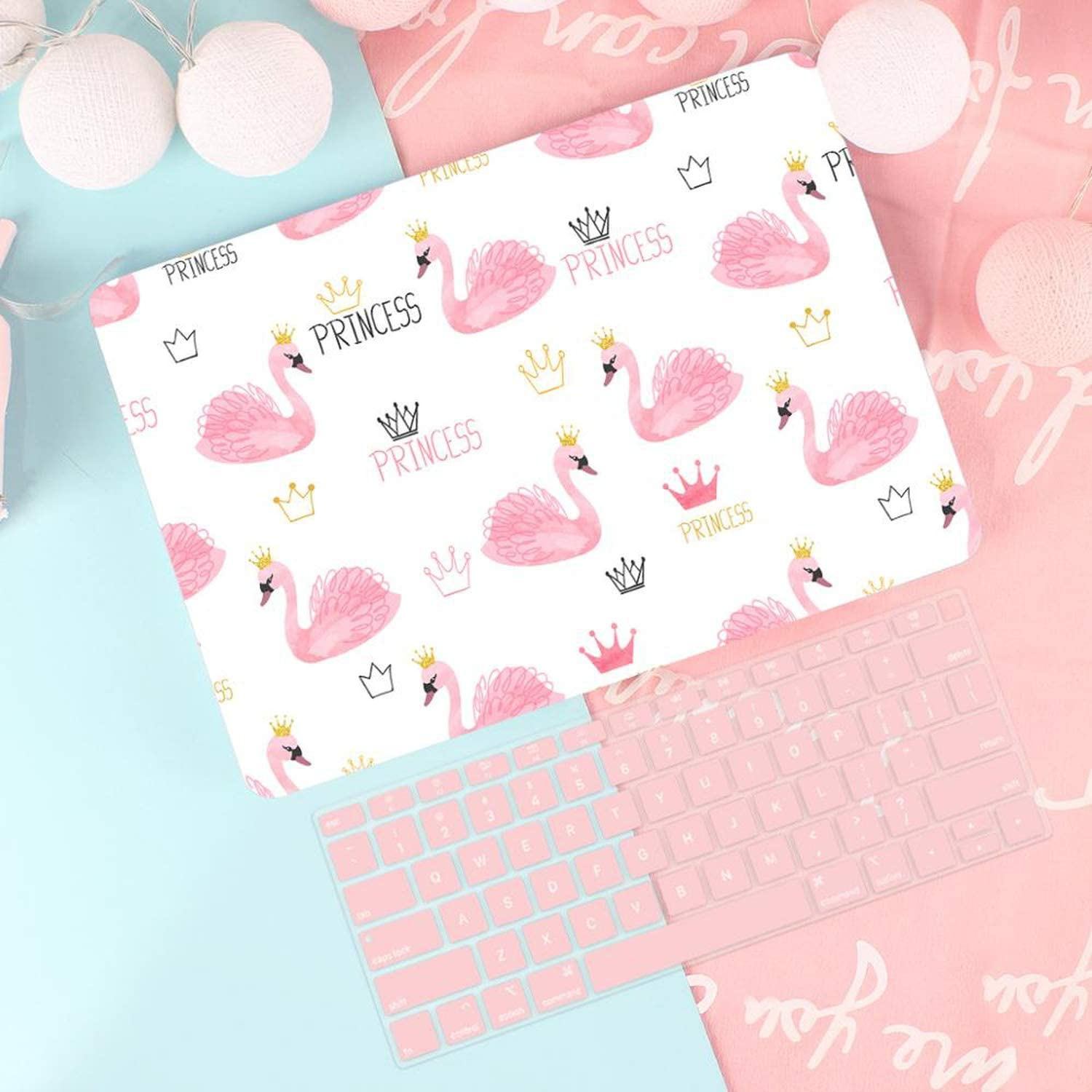 Keyboard Cover-X064-A1932 2018 2019 Lovely Laptop Case Cover for 13 A1932 2019 Retina Pro 13 15 Touch Bar A2159 A1990