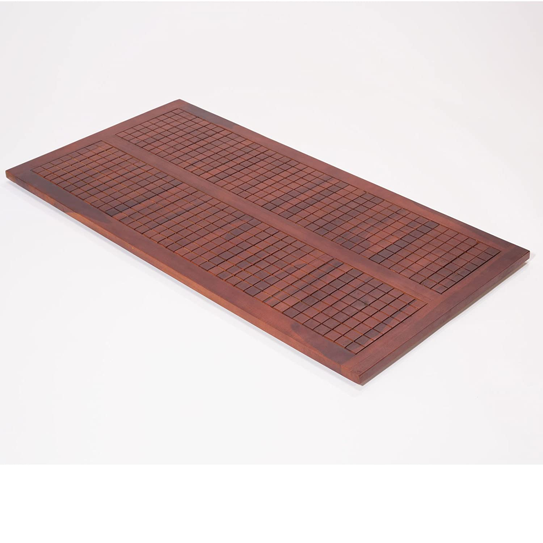 Amazoncom 40 X 20 Non Slip Teak Shower Floor Bath
