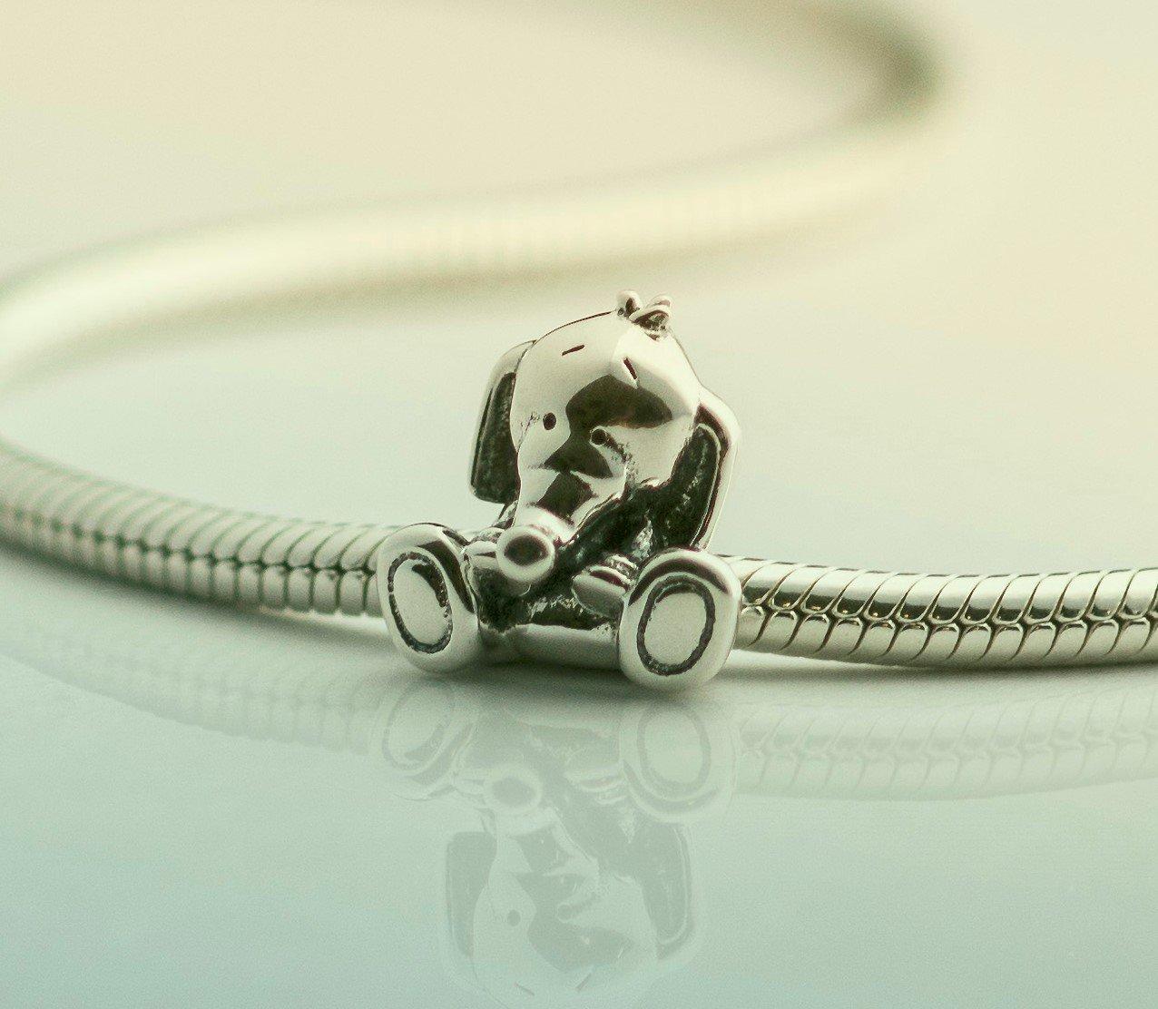 e684073fa NEW - Cute Baby Elephant Bamboo Sterling Silver Charm Bead S925, Cute Lucky  Elephant Silver Charm Bead Pendant, Silver Baby Elephant Necklace, ...