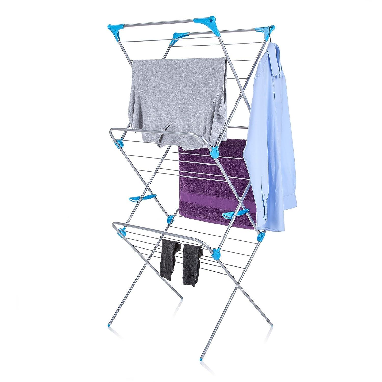 minky 3 tier trio indoor concertina tubular clothes airer. Black Bedroom Furniture Sets. Home Design Ideas