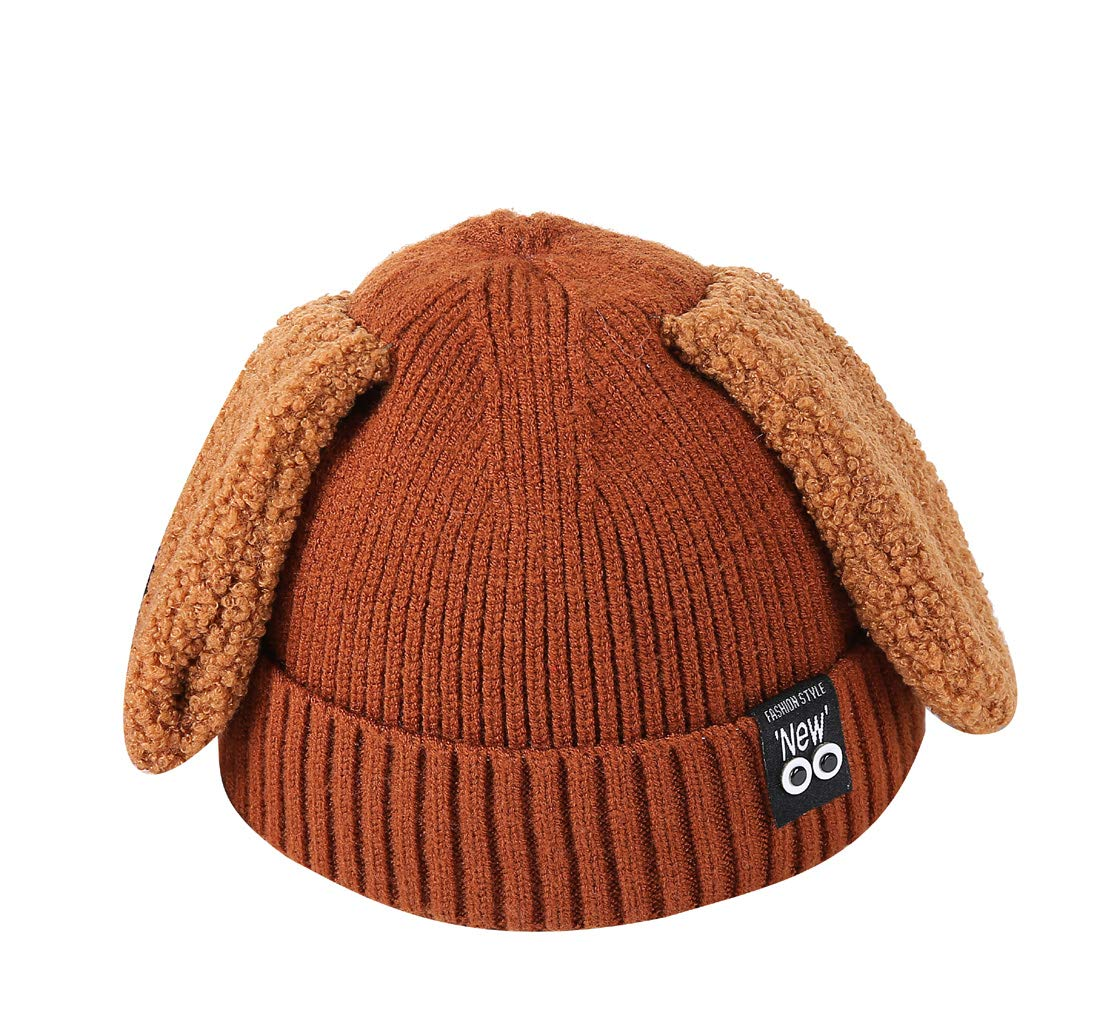 ACVIP Little Girl's Floppy Bunny Ears Cold Weather Skull Cap (Caramel) by ACVIP (Image #1)
