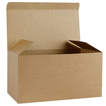 Ruspepa Recycled Cardboard Gift Boxes Large Decorative Box With Lids For Christmas Birthdays Holidays Weddings 12 X6 X6 10 Pack Kraft