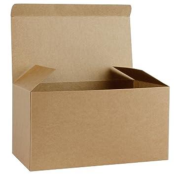 RUSPEPA 10 Pack 30.5 X 15.5 X15.5Cm Cajas De Regalo De Cartón Reciclado, Gran Caja Decorativa Con Tapas Para Navidad, Cumpleaños, Fiestas, Bodas (Kraft): ...