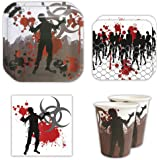 zombie standard party packs 65 pieces for 16 guests zombie party - Zombie Party Supplies