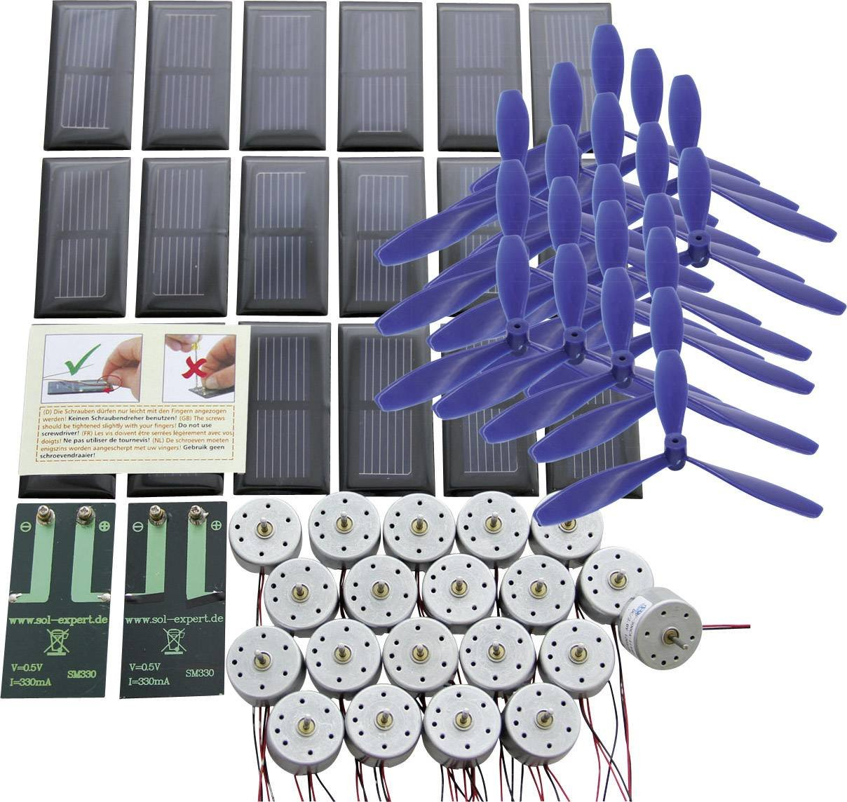 Kit solaire de base avec connexions à visser pour l'éducation Sol Expert 77774