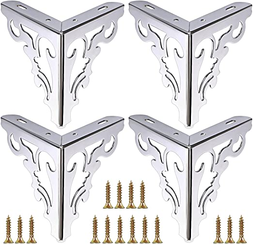 4pcs European Sofa Legs Tea Table Metal Furniture Feet Couch Bench Cabinet