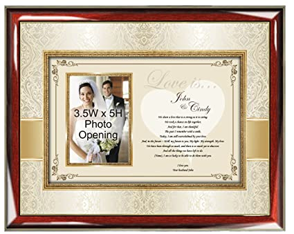 personalized romantic poetry frame romantic gift ideas for husband