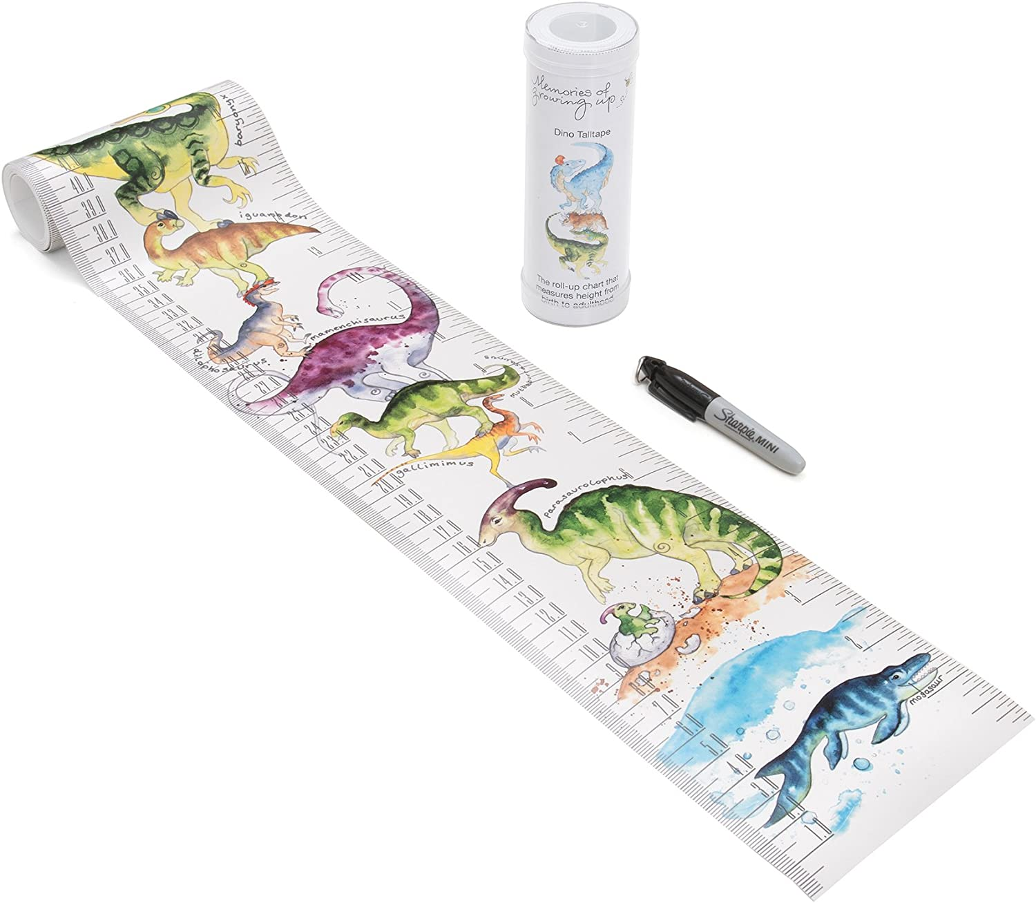 Roll-up Height Chart Plus 1 Sharpie Marker Pen to Measure Children from Birth Portable Talltape, Animals Choice of 10 Designs. TALLTAPE 10 Designs A Memento for Life