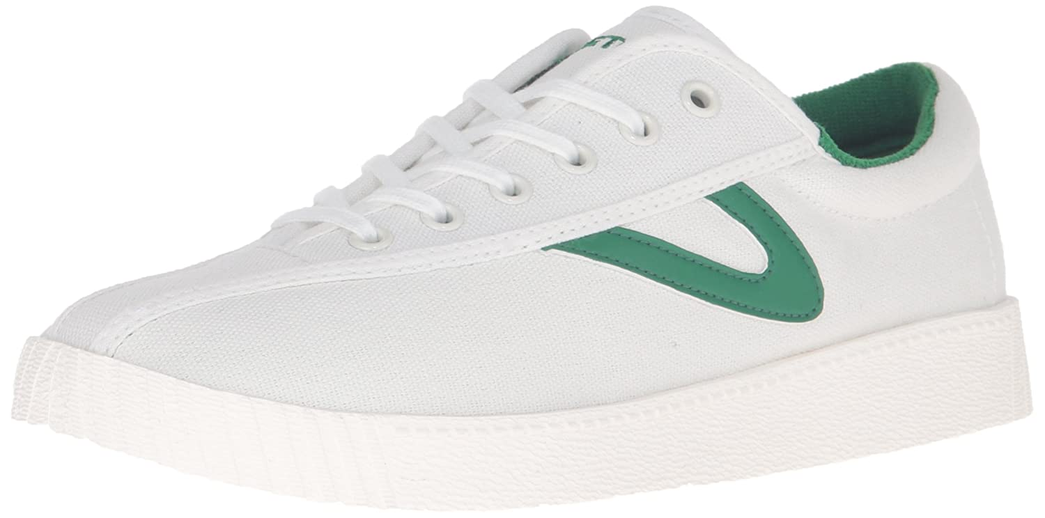 Tretorn Women's Nylite Plus Fashion Sneaker B01G61MFE0 5 B(M) US|Vintage White/Green