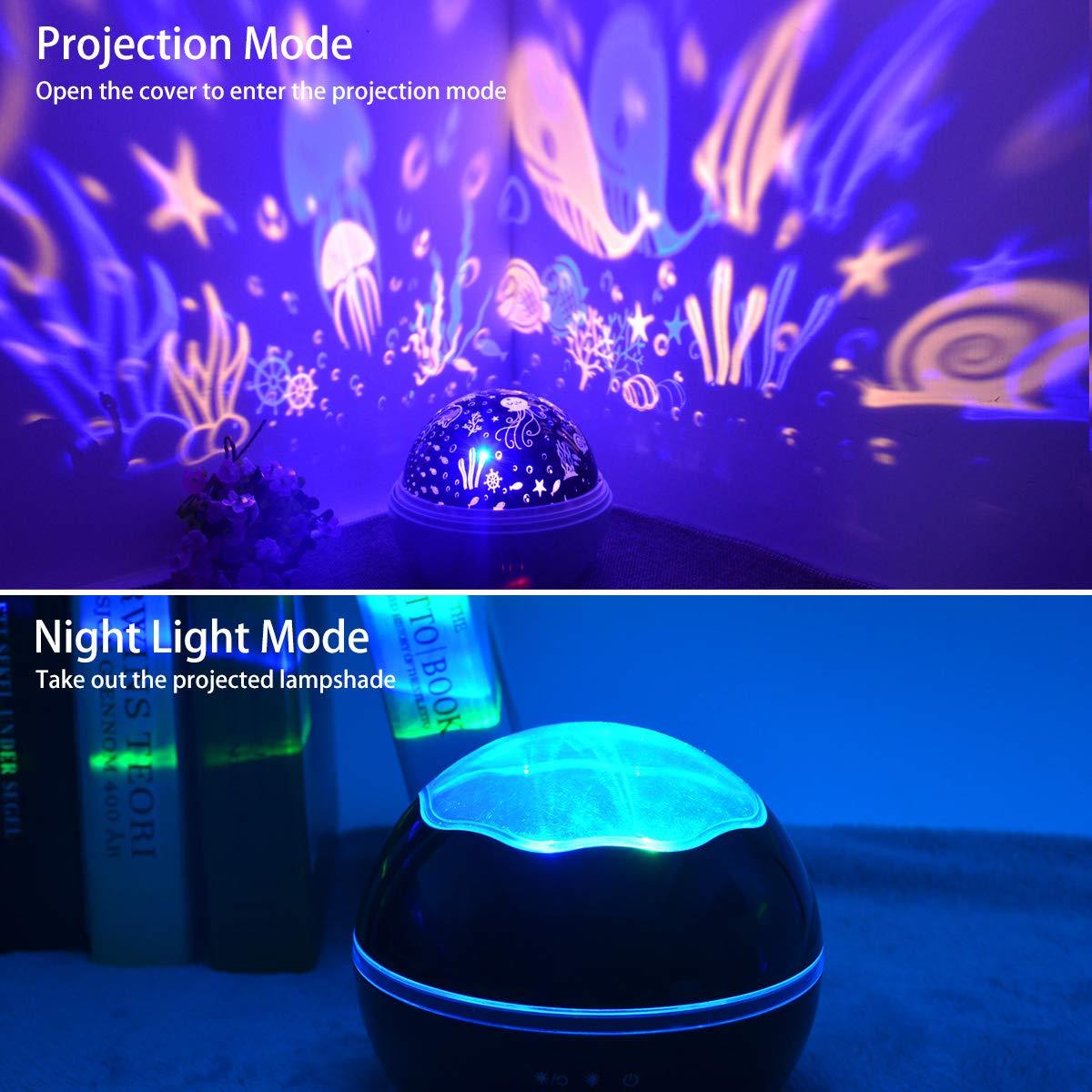 Star Light Night Proiettore Lampada, Sunvito 360 gradi che girano lampada proiettore romantico Stelle Moon Sky Proiettore per bambini, bambini, regali di Natale, camera per bambini, matrimonio, compleanno, vacanze (blu)